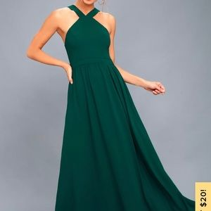 Bridesmaid Maxi Dress, worn once. Not altered